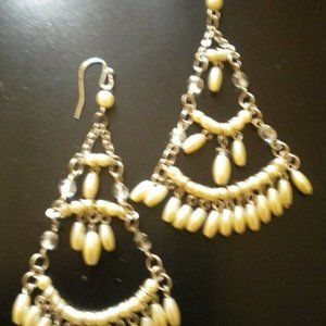 Women Dangle Pierced Chandelier Earrings